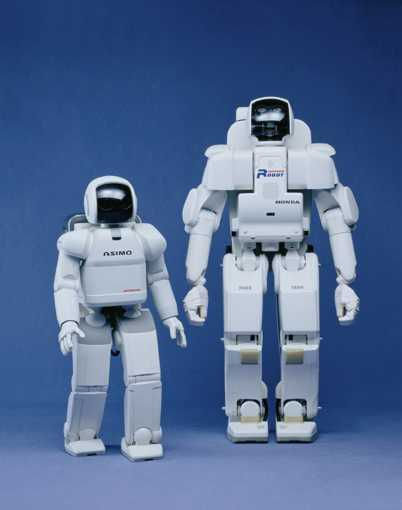 ASIMO (left) and P3(right) (Copyright HONDA)